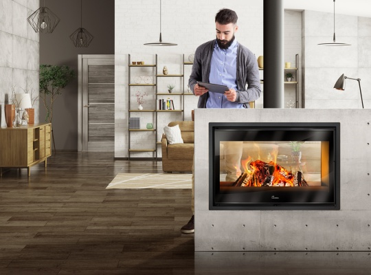 Fireplace stoves - Nickel